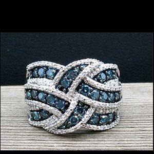 Jewelry - Sapphire Blue Sterling Silver Ring